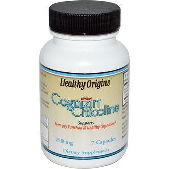 Healthy Origins, Cognizin Citicoline, 250 mg, 7 Capsules - iHerb.com