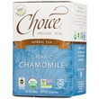 Choice Organic Teas, Herbal Tea, Organic, Chamomile, Caffeine-Free, 16 Tea Bags, .5 oz (14 g) - iHerb.com