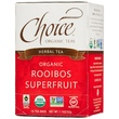 Choice Organic Teas, Herbal Tea, Organic Rooibos Superfruit, Caffeine Free, 16 Tea Bags, 1.1 oz (32 g) - iHerb.com