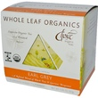 Choice Organic Teas, Whole Leaf Organics, Earl Grey, Caffeinated, 15 Tea Pyramids, 1.05 oz (30 g) - iHerb.com