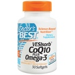 Doctor\'s Best, VESIsorb CoQ10 плюс омега-3, 30 гелевых капсул - iHerb.com