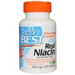 Doctor\'s Best, Real Niacin, 500 mg, 120 Tablets - iHerb.com