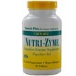 Nature\'s Plus, Nutri-Zyme, Chewable, Natural Peppermint, 90 Tablets - iHerb.com
