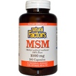 Natural Factors, MSM (Methyl-Sulfonyl-Methane), 1000 mg, 180 Tablets - iHerb.com