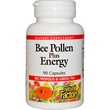 Natural Factors, Bee Pollen Plus Energy, 90 капсул - iHerb.com