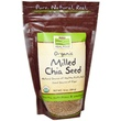 Now Foods, Real Food, Organic Milled Chia Seed, 10 oz (284 g) - iHerb.com