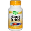 Nature\'s Way, Vitamin D-400, Natural Dry Form, 100 Capsules - iHerb.com