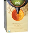 Rishi Tea, Organic White Tea, Peach Nectar, 15 Tea Bags, 1.59 oz (45 g) - iHerb.com
