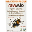 Rawmio, Organic Gourmet Salted Coconut Caramel & Crushed Cashew Raw Chocolate Bark, 1.76 oz (50 g) - iHerb.com