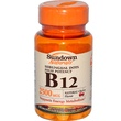 Rexall Sundown Naturals, High Potency B-12 Sublingual Dots, Natural Cherry Flavor, 2500 mcg, 50 Microlozenges - iHerb.com