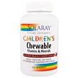 Solaray, Children\'s Chewable Vitamins and Minerals, Natural Black Cherry Flavor, 120 Chewables - iHerb.com