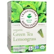Traditional Medicinals, Organic Green Tea Lemongrass, 16 Wrapped Tea Bags, .85 oz (24 g) - iHerb.com