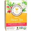 Traditional Medicinals, Tonic Teas, Organic Heart Tea, Hawthorn Hibiscus, Caffeine Free, 16 Wrapped Tea Bags - iHerb.com