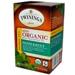Twinings, 100% Organic Herbal Tea, Peppermint, 20 Tea Bags, 1.41 oz (40 g) - iHerb.com