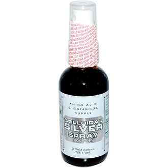 Amino Acid & Botanical Supply, Colloidal Silver Spray, 200 ppm, 2 fl oz (59.14 ml) - iHerb.com