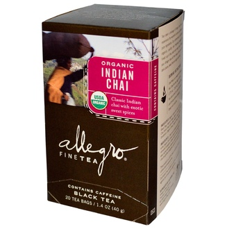 Allegro Fine Tea, Organic, Black Tea, Indian Chai, 20 Tea Bags, 1.4 oz (40 g) - iHerb.com