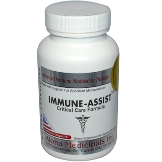 Aloha Medicinals Inc., Immune-Assist, Critical Care Formula, 500 mg, 84 Capsules  - iHerb.com