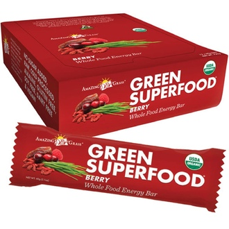 Amazing Grass, Green Superfood, Whole Food Energy Bar, Berry, 12 Bars, 2.1 oz (60 g) Each - iHerb.com