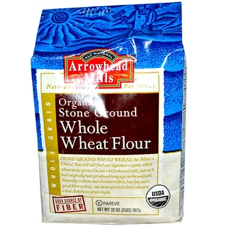 Arrowhead Mills, Organic Stone Ground Whole Wheat Flour, 32 oz (907 g) - iHerb.com