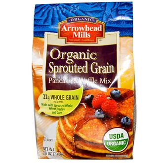 Arrowhead Mills, Organic Sprouted Grain Pancake & Waffle Mix, 26 oz (737 g) - iHerb.com