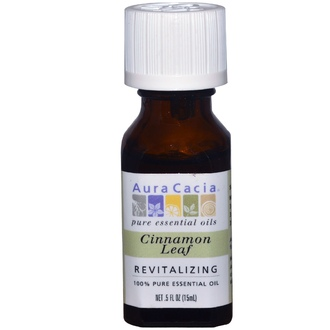 Aura Cacia, Cinnamon Leaf, Revitalizing, .5 fl oz (15 ml) - iHerb.com