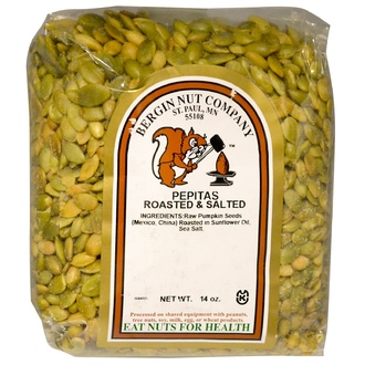 Bergin Fruit and Nut Company, Pepitas Roasted & Salted, 14 oz - iHerb.com