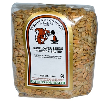 Bergin Fruit and Nut Company, Sunflower Seeds, Roasted & Salted, 16 oz - iHerb.com