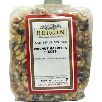 Bergin Fruit and Nut Company, Walnut Halves and Pieces, 11 oz (312 g) - iHerb.com
