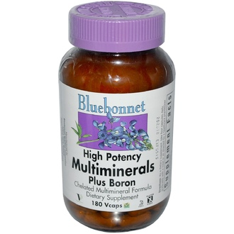 Bluebonnet Nutrition, Multiminerals, Plus Boron, 180 Vcaps - iHerb.com