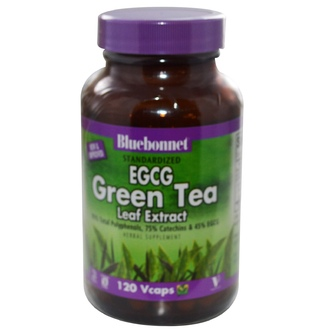Bluebonnet Nutrition, Herbals, EGCG Green Tea Leaf Extract, 200 mg, 120 Vcaps - iHerb.com