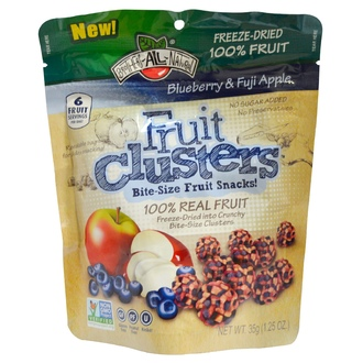 Brothers-All-Natural, Blueberry & Fuji Apple Clusters, 1.25 oz (35 g) - iHerb.com