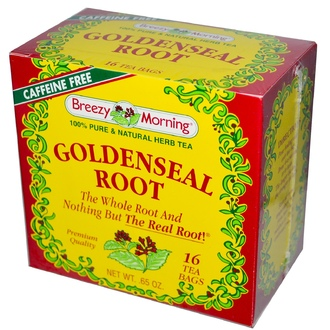 Breezy Morning Teas, Goldenseal Root, Caffeine Free, 16 Tea Bags, 0.65 oz - iHerb.com