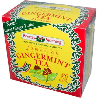 Breezy Morning Teas, Jamaican Gingermint Tea, Caffeine Free, 20 Tea Bags, 1.58 oz - iHerb.com