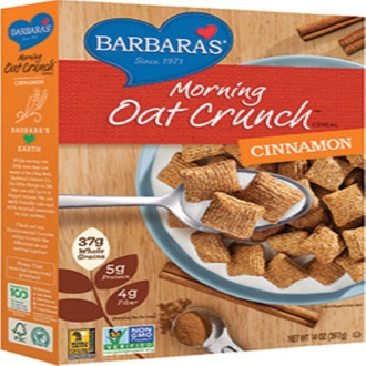Barbara\'s Bakery, Morning Oat Crunch Cereal, Cinnamon, 14 oz (397 g) - iHerb.com