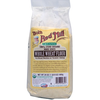 Bob\'s Red Mill, Organic, Hard White Whole Wheat Flour, 24 oz (680 g) - iHerb.com