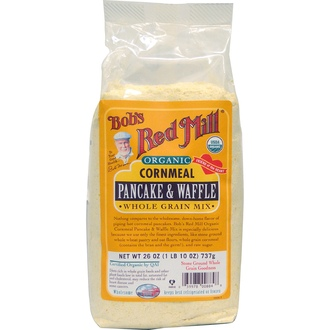 Bob\'s Red Mill, Organic Cornmeal Pancake & Waffle Whole Grain Mix, 26 oz (737 g) - iHerb.com