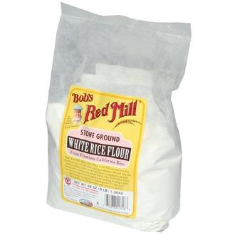 Bob\'s Red Mill, Stone Ground White Rice Flour, Gluten Free, 48 oz (1.36 kg) - iHerb.com
