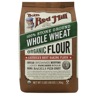 Bob\'s Red Mill, Organic Whole Wheat Flour, 48 oz (1.36 kg) - iHerb.com