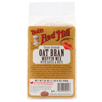 Bob\'s Red Mill, Oat Bran Muffin Mix, with Dates and Nuts, 24 oz (680 g) - iHerb.com