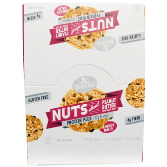 Betty Lou\'s, Nuts About Peanut Butter Chocolate Chip, Protein Plus Energy Balls, 12 Balls, 1.7 oz (49 g) Each - iHerb.com