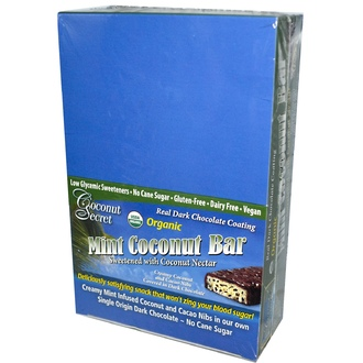 Coconut Secret, Organic, Mint Coconut Bar, 12 Bars, 1.75 oz (50 g) Each - iHerb.com