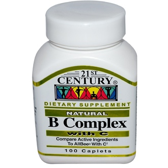 21st Century Health Care, B Complex, with C, 100 Tablets - iHerb.com