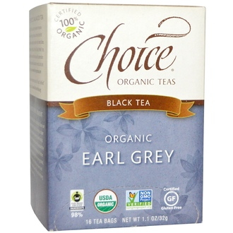 Choice Organic Teas, Organic Earl Grey, Black Tea, 16 Tea Bags, 1.1 oz (32 g) - iHerb.com