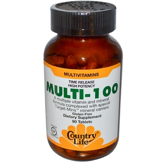 Country Life, Gluten Free, Multi-100, 90 Tablets - iHerb.com