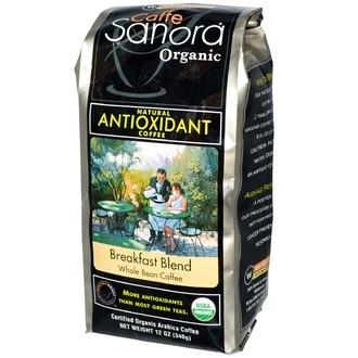 Caffe Sanora, Organic, Whole Bean Coffee, Breakfast Blend, 12 oz (340 g) - iHerb.com