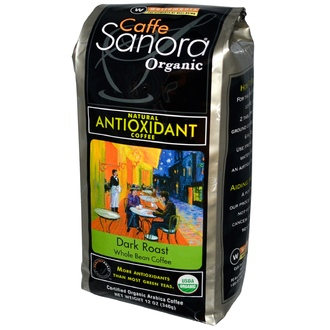 Caffe Sanora, Organic, Whole Bean Coffee, Dark Roast, 12 oz (340 g) - iHerb.com