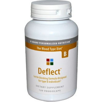 D\'adamo, Deflect, Lectin Blocking Formula, The Blood Type Diet B, 120 Veggie Caps - iHerb.com