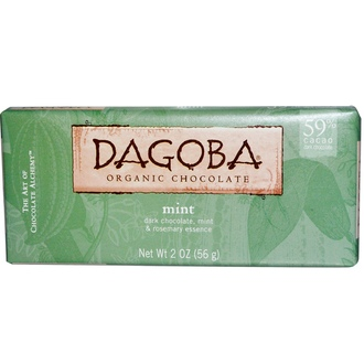 Dagoba Organic Chocolate, Мята, 2 унции (56 г) - iHerb.com
