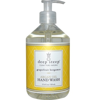 Deep Steep, Argan Oil Hand Wash, Grapefruit Bergamot, 17.6 fl oz (520 ml) - iHerb.com