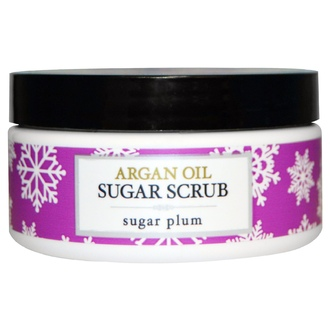 Deep Steep, Argan Oil Sugar Scrub, Sugar Plum, 8 oz (226 g) - iHerb.com
